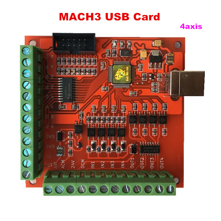 MACH3 USB Motion Controller card breakout board for CNC