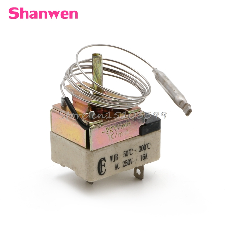 Thermostat Temperature Controller NO NC For 50-300 Degree Electric Oven AC 250V 16A #G205M# Best Quality