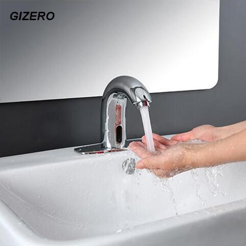 Chrome Brass Faucet Touchless Sensor Automatic Faucet Electric Infrared Bathroom Sink Taps ZR1008