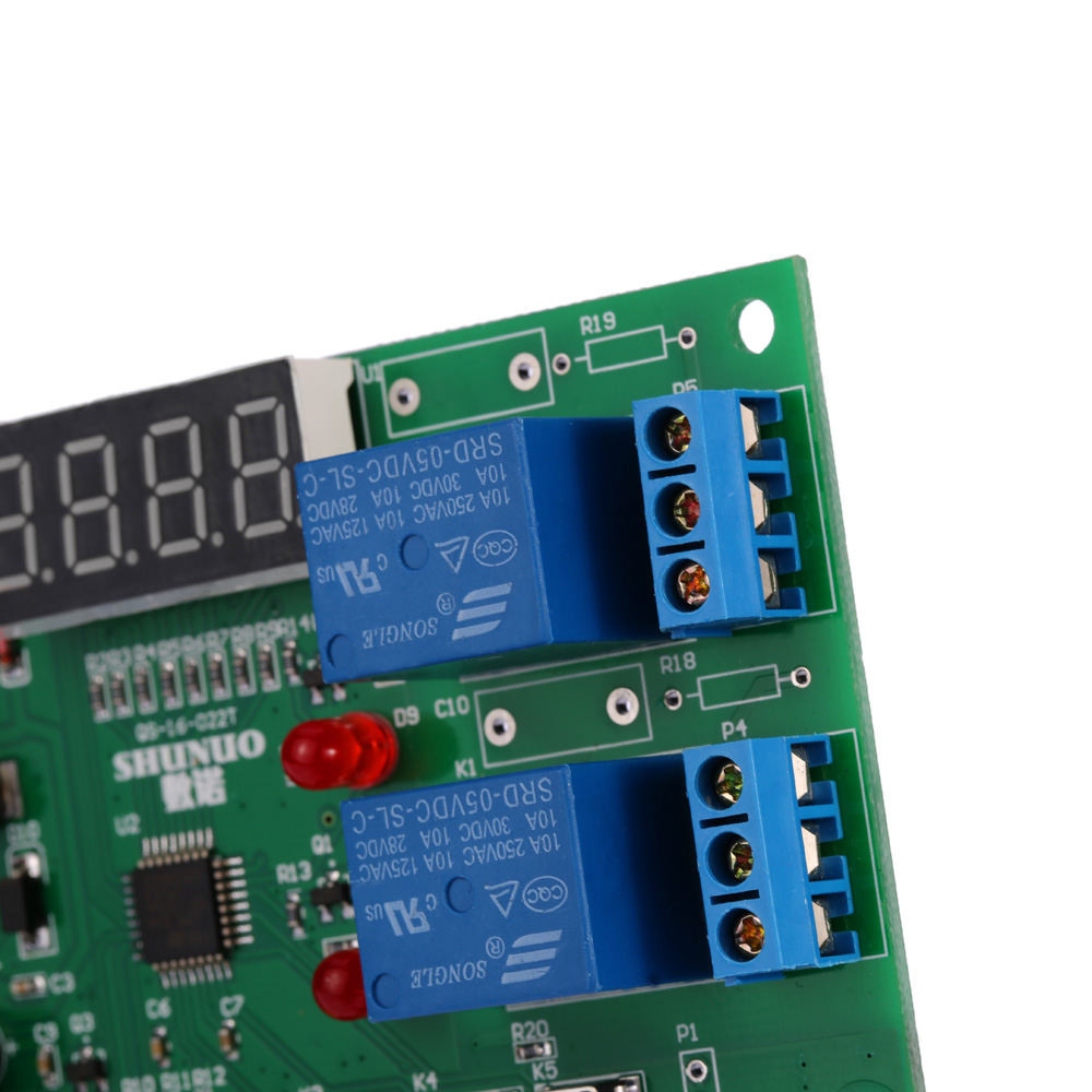DC 5V~24V Digital Intelligent Temperature & Humidity Controller Control Board Module Relay with LED Indicator Alarm Function
