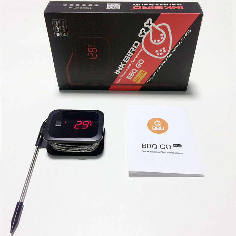 Inkbird Food Cooking Bluetooth Wireless BBQ Thermometer IBT-2X With Double Probes and Timer For Oven Meat Grill free app control