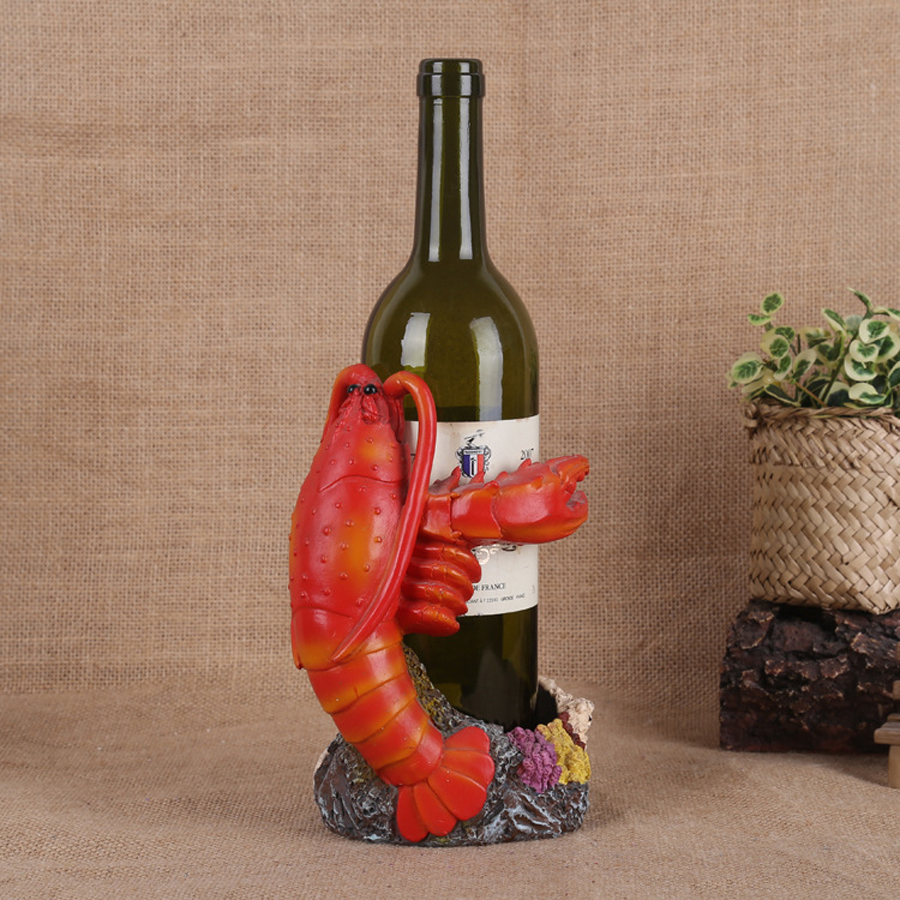 New Resin Crabs Lobster Wine Racks Creative Wedding