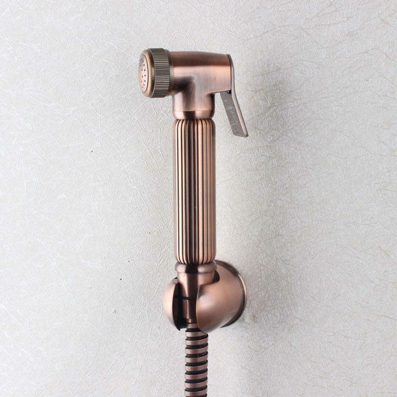 NEW Antique Brass Plated Shataff Bidet Douche Shower Toilet Spray Kit & hose 02-174