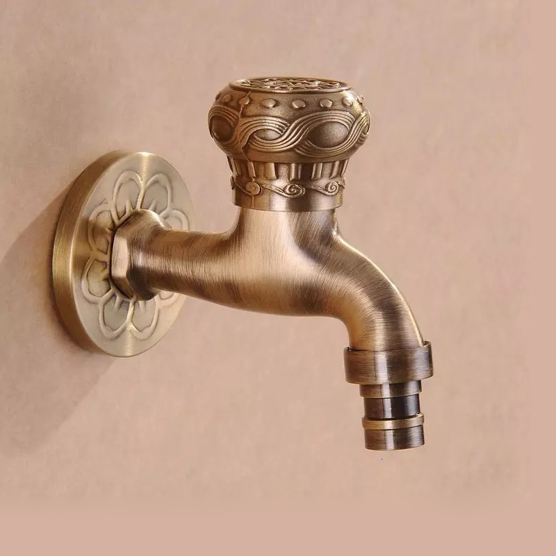 BAKALA Brass Antique Bronze Bibcock, Cold Tap, Washing Machine Faucet, Toilet Bibcock, Copper Bibcock,Tap,Garden faucet