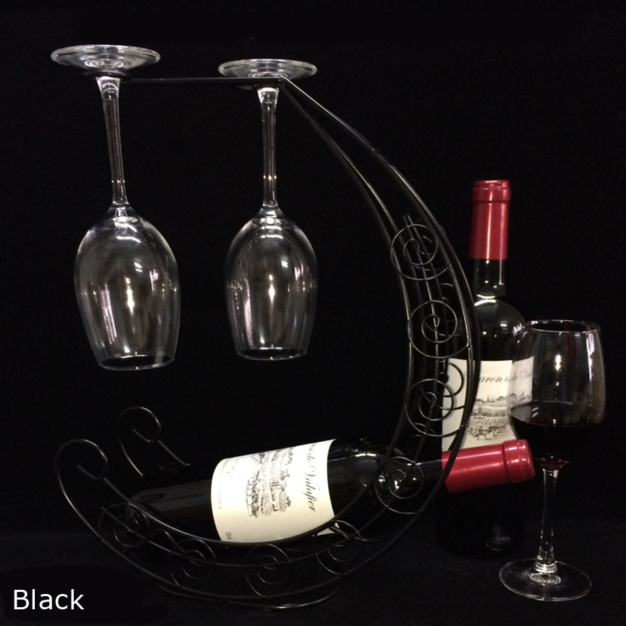 Hot sale European pirate ship cup holder wine racks retro iron moon wine rack goblet rack Kitchen accessories