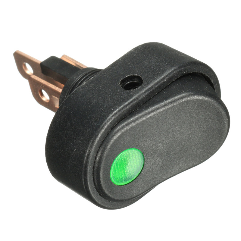 1 PCS LED Light 12V 30Amp 30A Car Boat Auto Rocker SPST Toggle Switch Four Colors Promotion