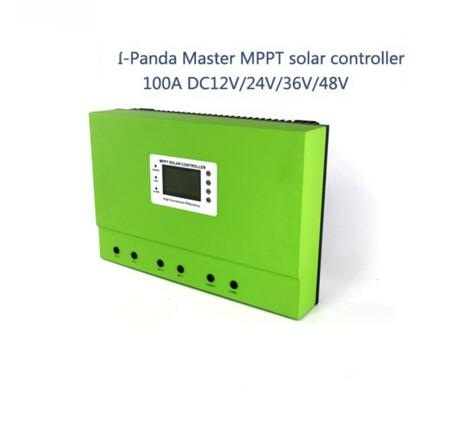 LCD 100A mppt solar charge controller 12V 24V 36V 48V 100A PV regulator charge Solar Battery with Rs232 Lan 5KW system