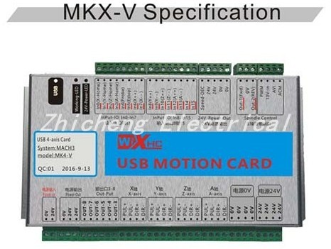 XHC New generation mach3 Motion control card 4 Axis USB cable CNC Breakout board