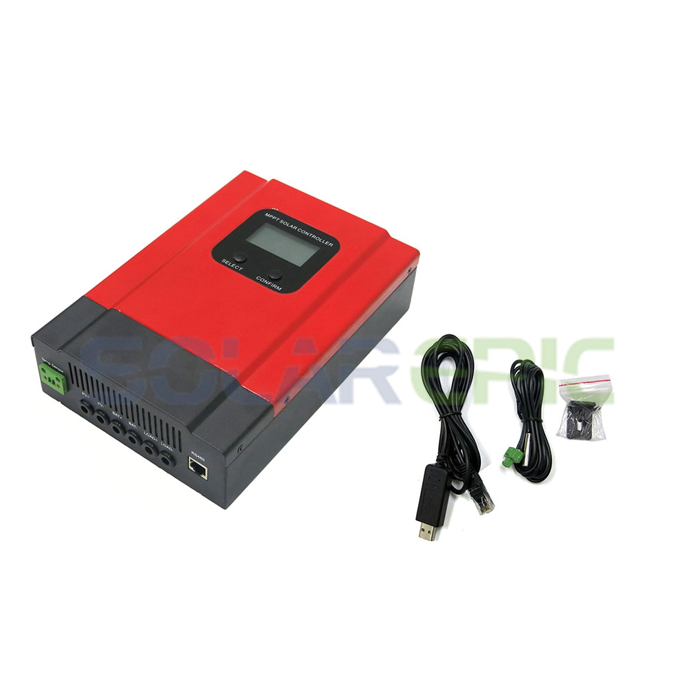 30A MPPT Solar Charge Controller DC 12V/24V/36V/48V Auto Battery Charger Regulator CE Max PV Input 130V With LCD Display