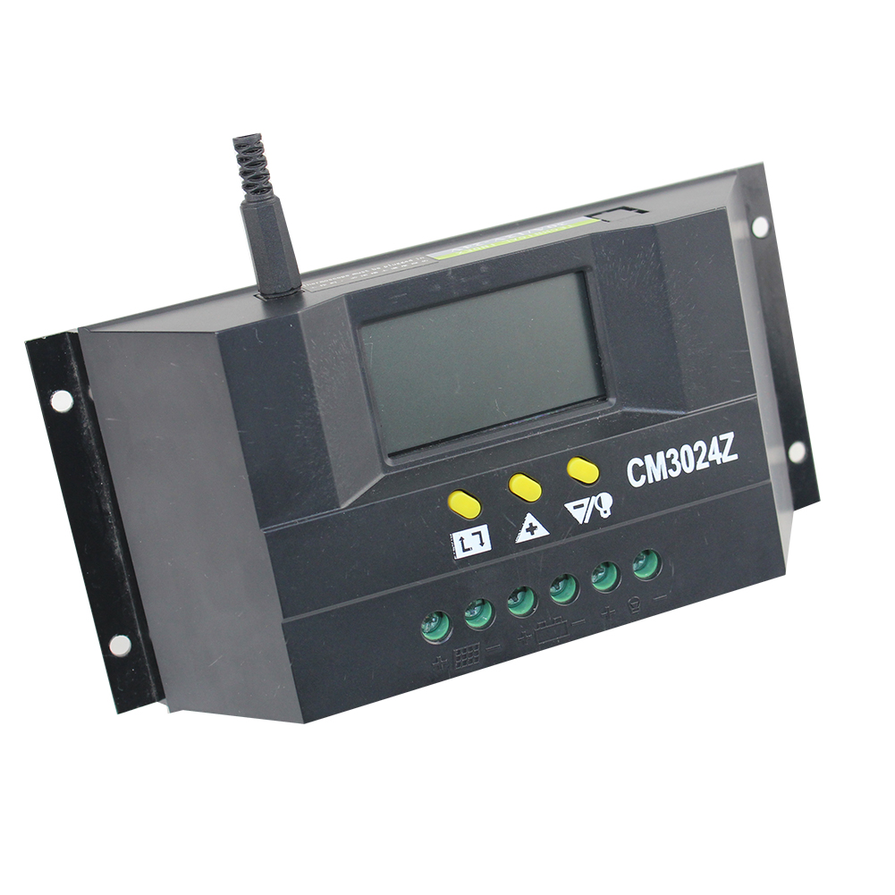 CM3024 Solar Panel Battery Regulator Charge Dual USB Controller 30A 12V/24V for Environment Monitoring Agriculture System