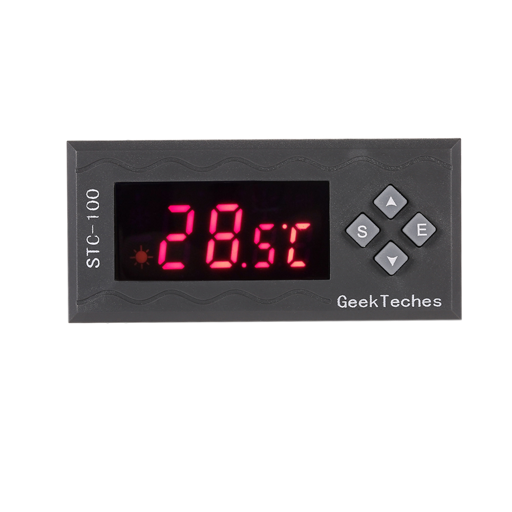 AC110-240V All-Purpose Digital Temperature Controller LED Thermostast 2 Relay thermal regulator With NTC SensorTemperature Alarm
