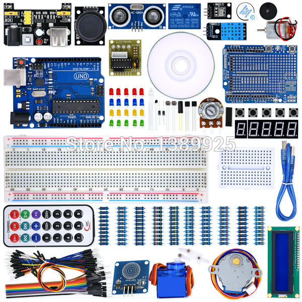 UNO Project Super Starter Kit with Tutorial, 5V Relay, UNO R3, Power Supply Module, Servo Motor, 9V Battery with DC,ect.
