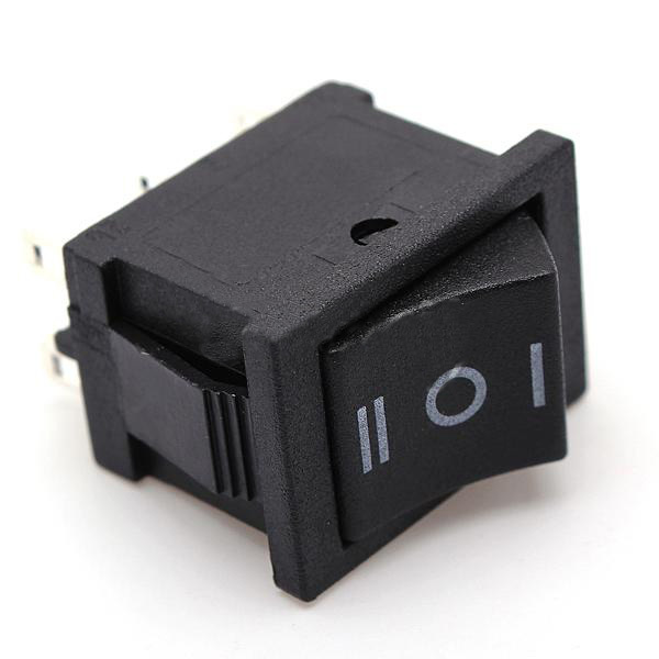 5 Pieces/Lot  AC 6A/250V 10A/125V  5X 6Pin DPDT ON-OFF-ON Position Snap Boat Rocker Switches T1404 P0.4