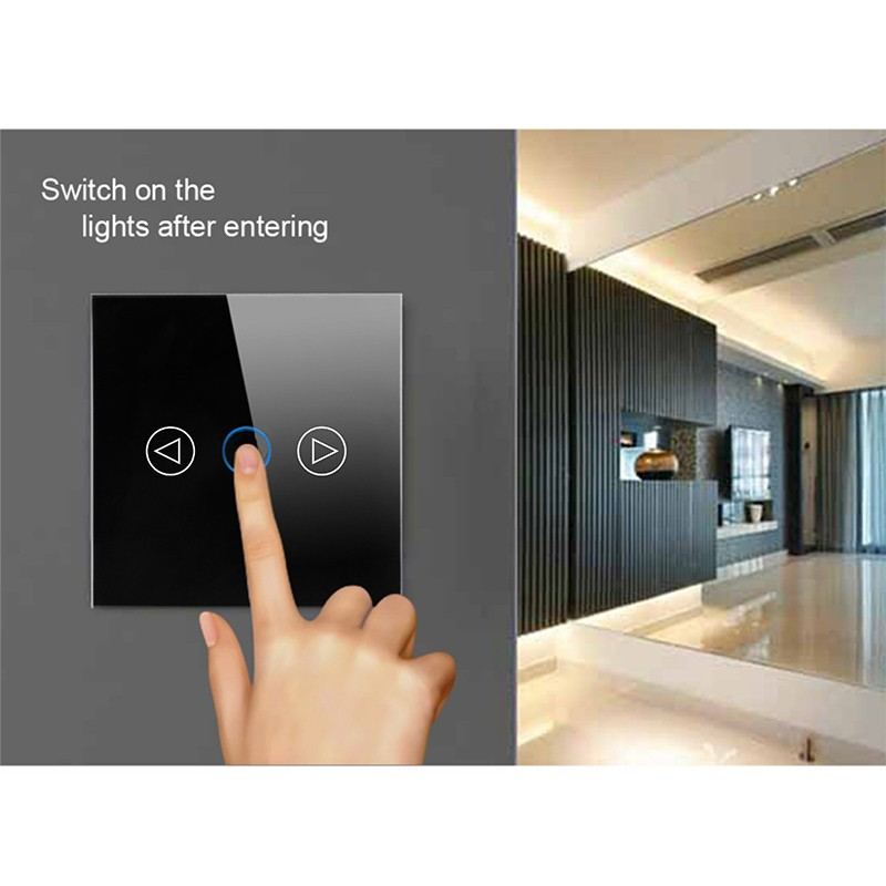 EU/UK Standard Touch Light Dimmer Switch, Crystal Touch Glass Pane Wall Switch, DIY Dimmer switch For Lamp 220V 6A