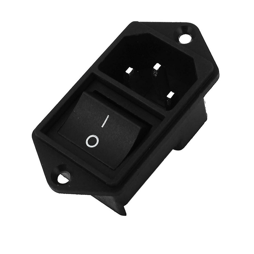 1PC IEC320 C14 AC Power Cord Inlet Socket Receptacle With Rocker Switch 250V 15A  SA172 P0.3
