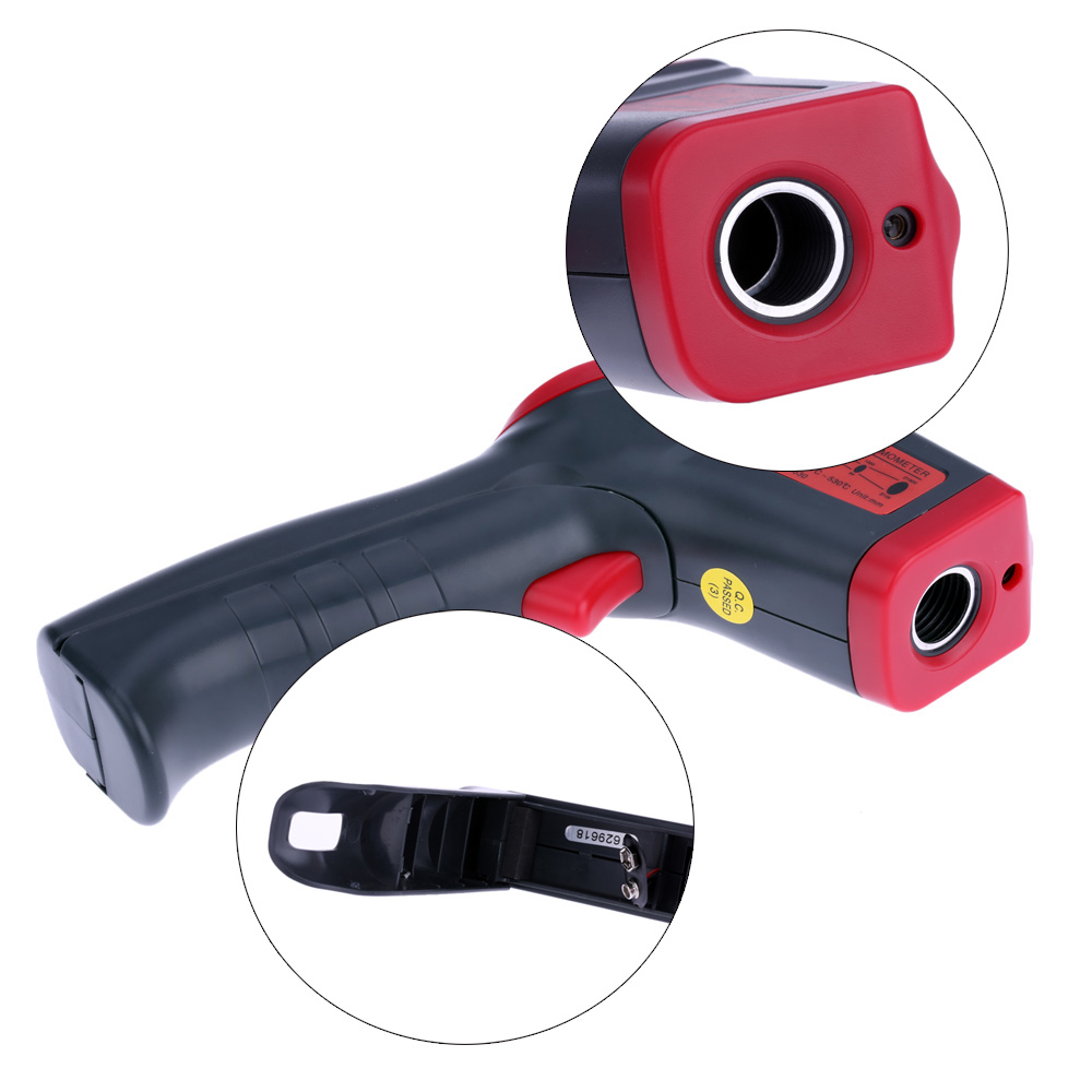 Digital laser Infrared IR Thermometer Gun Handheld Non-contact -32~530C(-26~986F) Temperature Tester Pyrometer W/ LCD Backligh