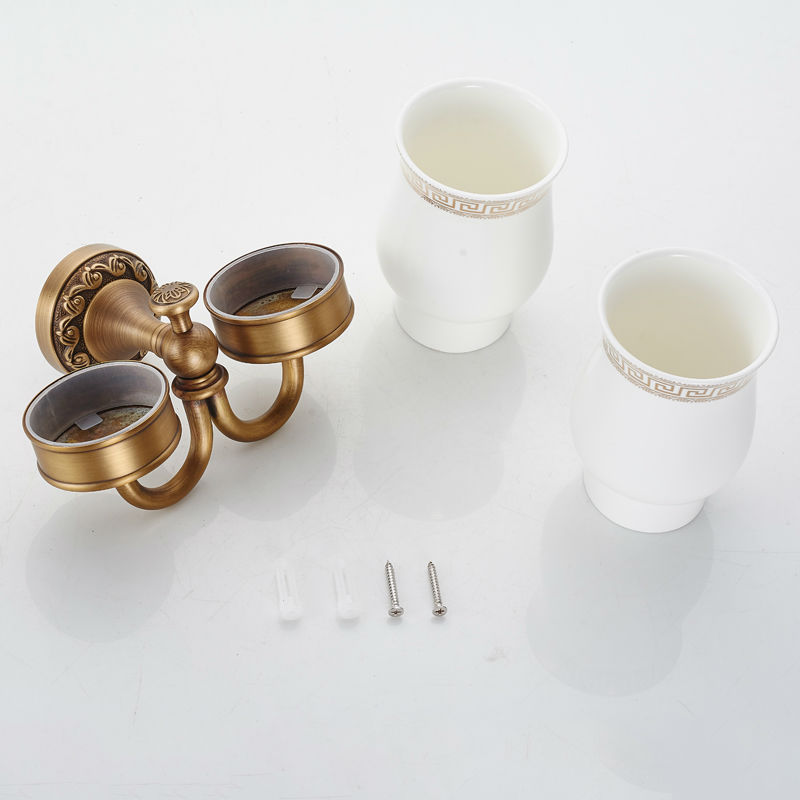 New Arrival Brass Antique Holder Cup& Holders  Toothbrush Holder Bathroom Accessories