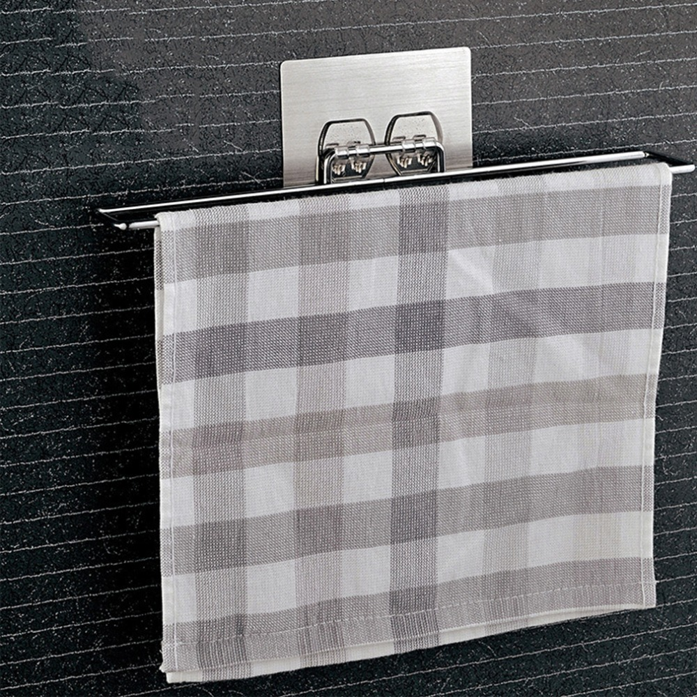 2017 Multifunciton Chrome Plated Metal Home Seamless Vacuum Suction Towel Rack Creative Design Bathroom Towel Hanging Rack