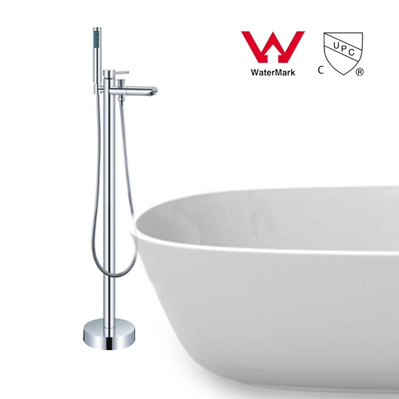 WELS AND CUPC Approval Brass Chrome Polished Floor Stand bath faucet.bathroom tap Shower Faucets