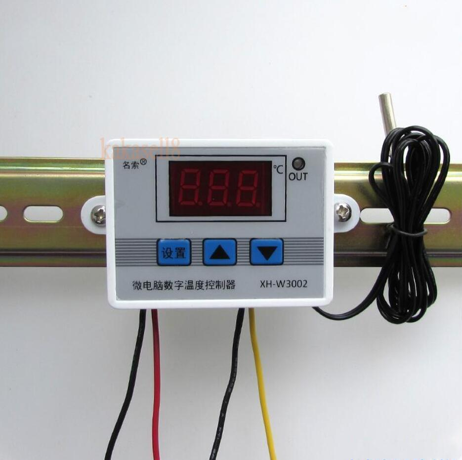 Digital LED Temperature Controller 10A Thermostat Control Switch with Probe sensor W3002