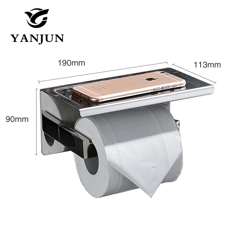 Yanjun 2016 New Style Multi-function Bathroom Shelves  Single Roll Toilet Paper Holders Bathroom Accessories YJ-8820