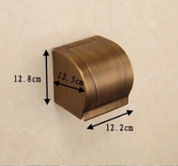 box hand paper box in bathroom Whole brass Antique bathroom paper holder with full cover brass tissue