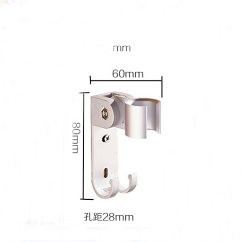 Bathroom Accessories Aluminum Shower Brackets Walll Mounted Handheld Shower Holder Bracket with Hooks