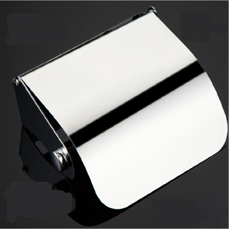 Modern Polished Chrome Toilet Paper Holder Box 304 Stainless Steel Toilet Paper Rack Tissue Roll Holder Bathroom Accessories gd6