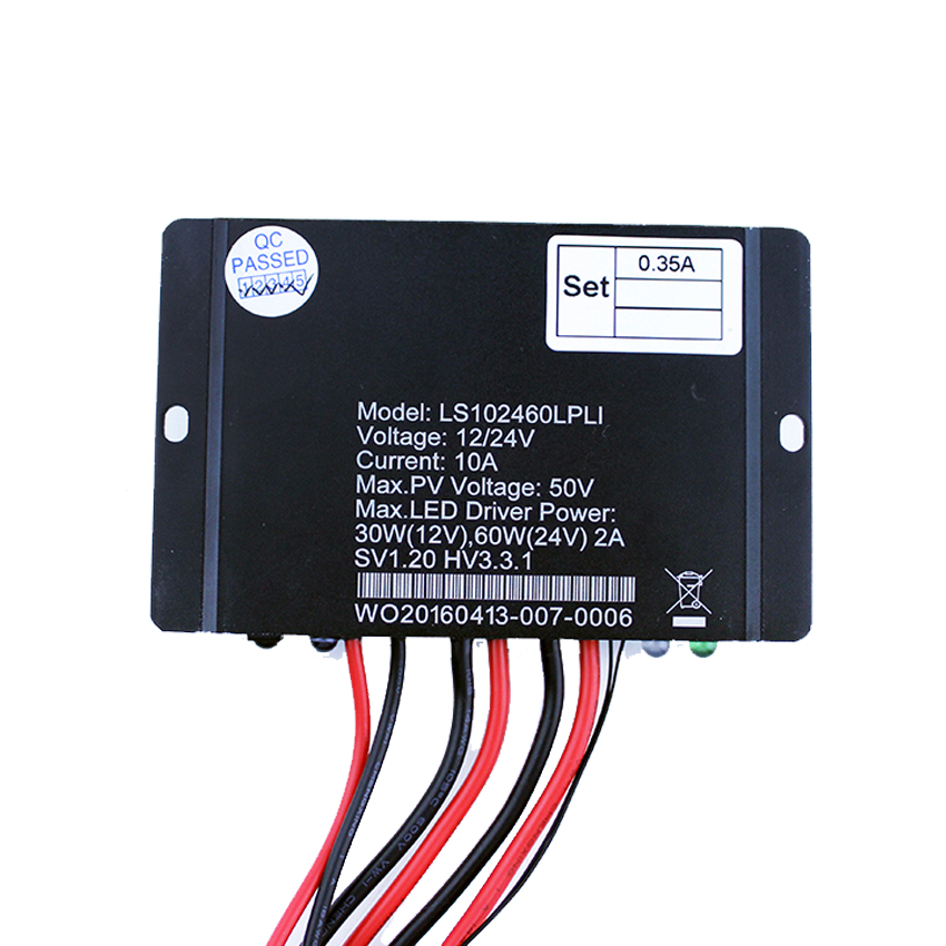 10A 12V 24V EPSOLAR LS102460LPLI Solar charger controller timer IP67 Waterproof lithium battery