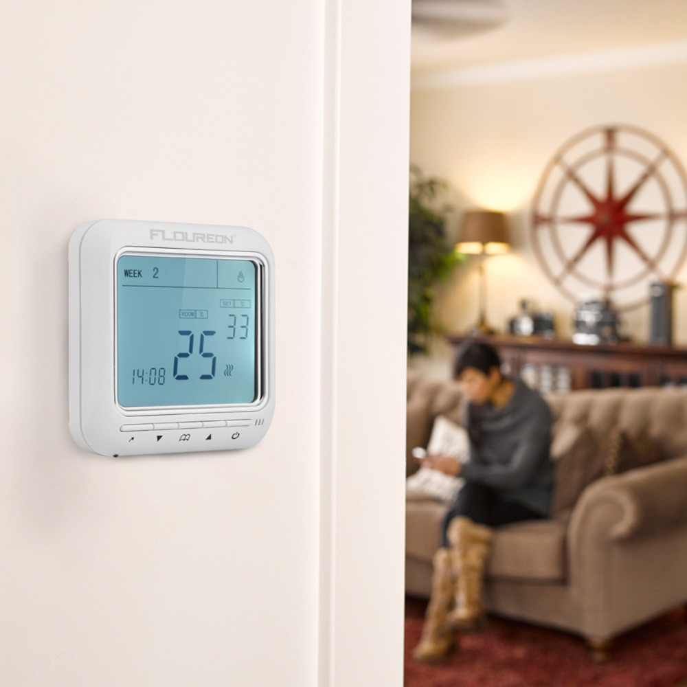 New Programmable Anti-Freezing Heating Thermostat LCD Room Temperature Controller Thermostat Overheat Protection Keypad Lock