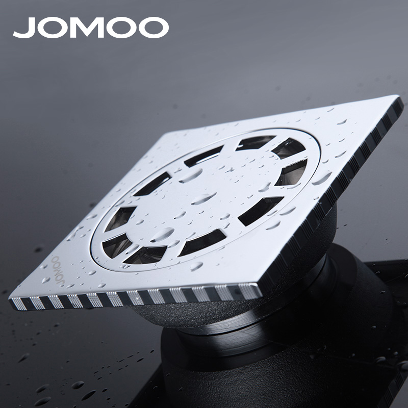 JOMOO Brand High Quality Stainless Steel Floor Drain Deodorization Square Shape Chrome Plate Bathroom Drain Shower Drain 9218