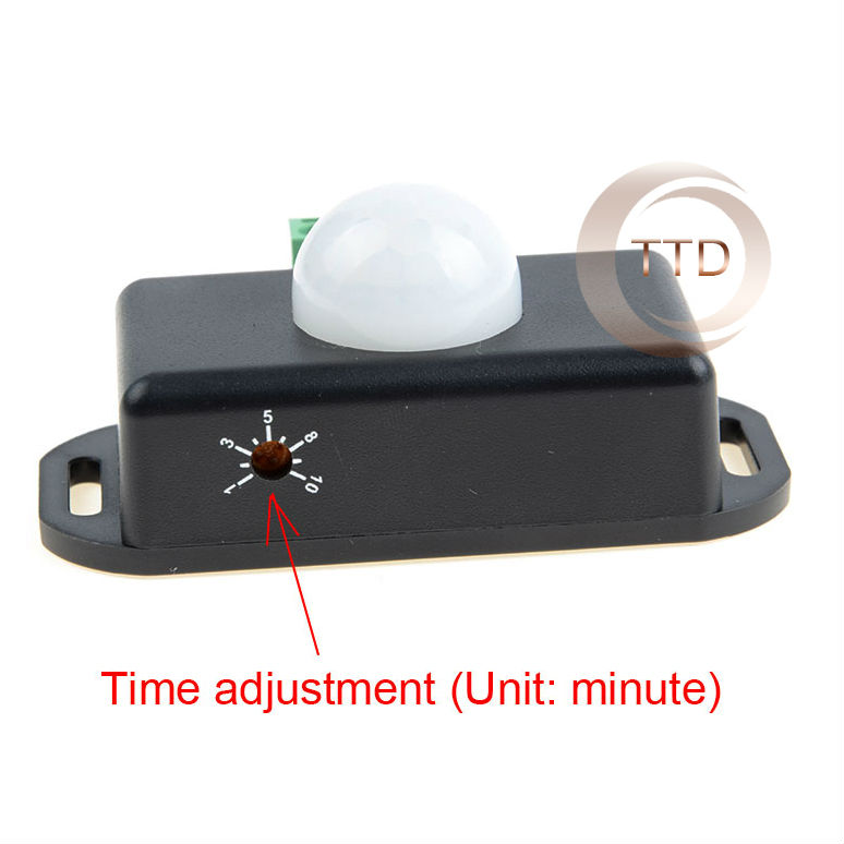 DC 12V/24V Body Infrared PIR Motion Sensor Switch For LED Light Strip Automatic