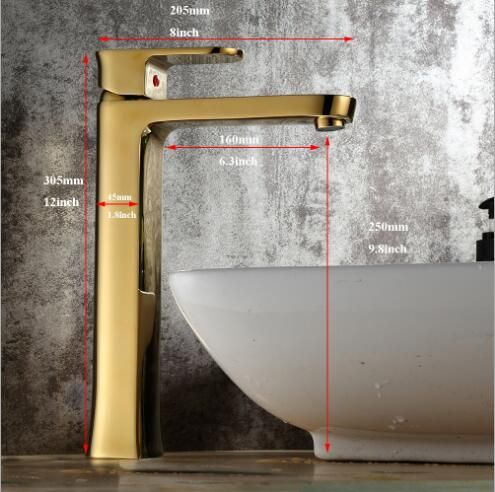 New arrival bathroom faucet Luxury high quality gold finished Tall bathroom sink faucet basin faucet,water tap mixer BM