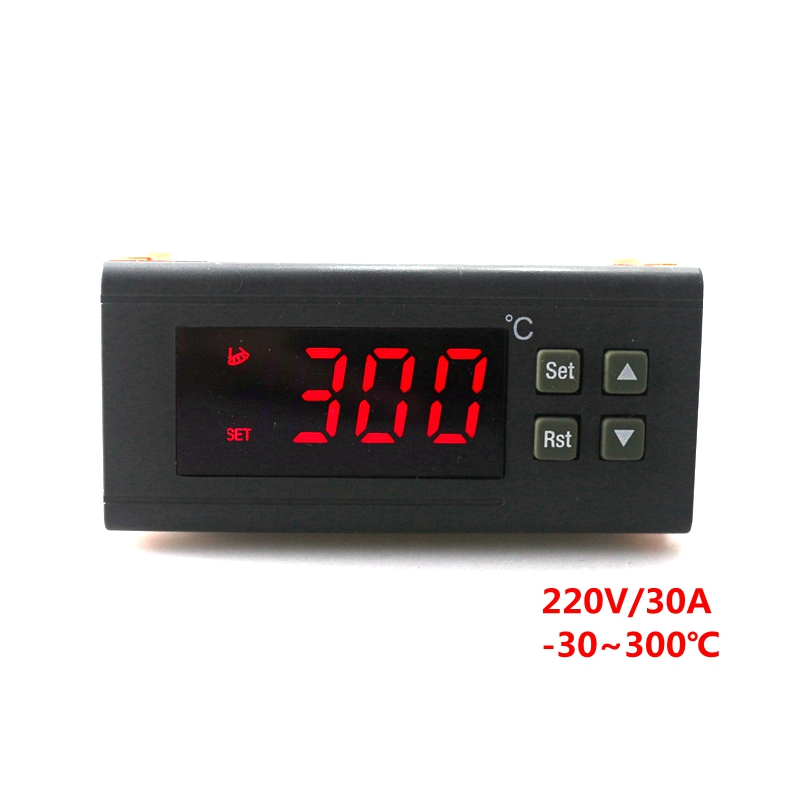 RC-114M 220V/30A Digital Temperature Regulator Controller Thermostat -30~300C with NTC Sensor