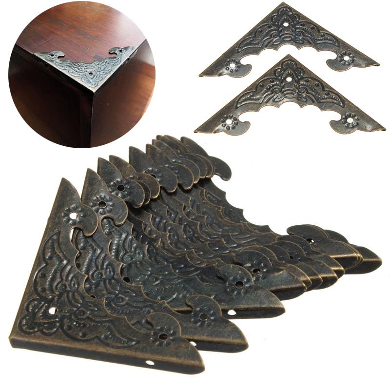 12x Decorative Antique Jewelry Gift Box Furniture Wooden Corner Protector Guard