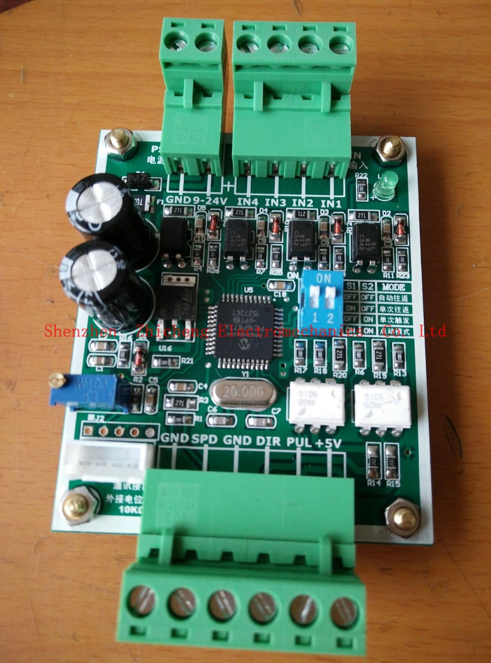 Stepper motor controller for single-axis pulse generator stepper motor driver of the reciprocating movement of the fixed length