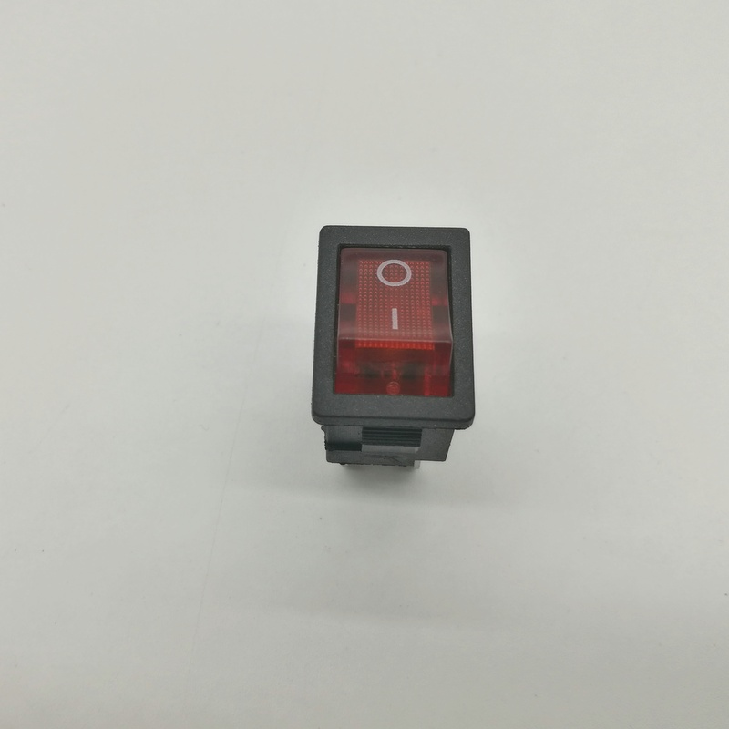 Rocker Switch KCD1-104  4 Pin 6A 250V 10A125VRed Button With Light   On - Off Rocker Power Switches