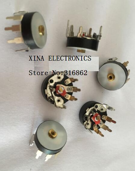 5pcs/lot RV12MM B503 B50K B10K B103 curved legs with switch potentiometer potentiometer radio amplifier