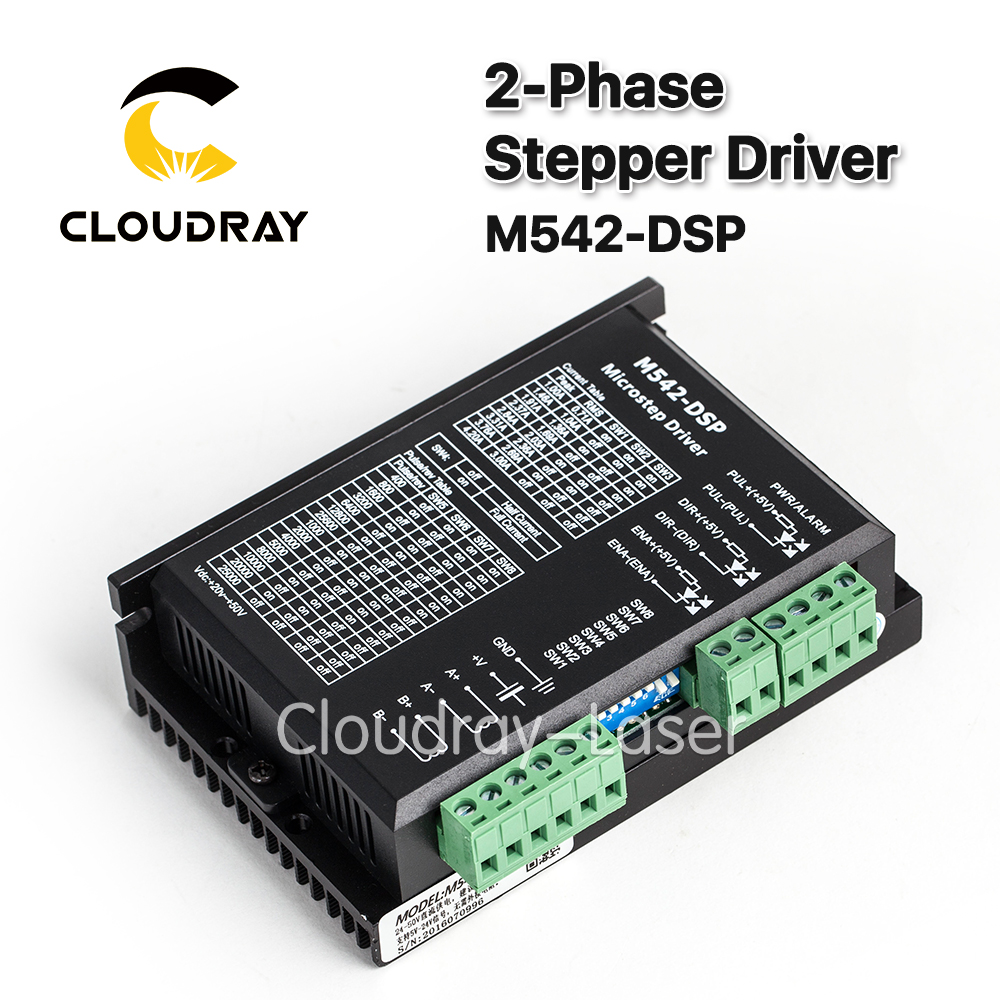 2-Phase Stepper Motor Driver M542-DSP 24-50VDC Output 4.2A Current NEMA 23 Motor CNC Micro-Stepping replace M542,2M542