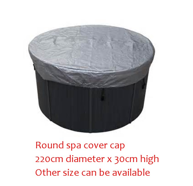 ROUND spa cover cap bag 220cm diameter x 30cm high Other Size can be available