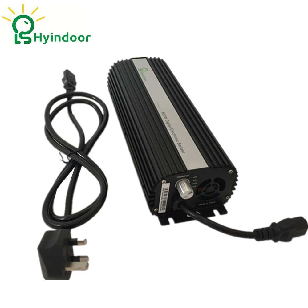 Lighting Accessories UK Plug 600W Compact Dimmable Digital Ballasts for Grow Lights HPS MH Bulbs Lamp Electronic Balastro