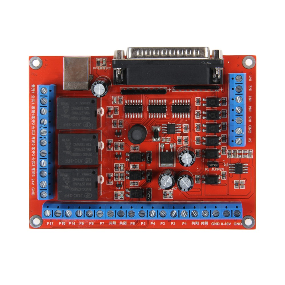 MACH3 CNC 4.5A Stepping Motor Driver 6-Axis 12-36 V Power Supply Board -Y103