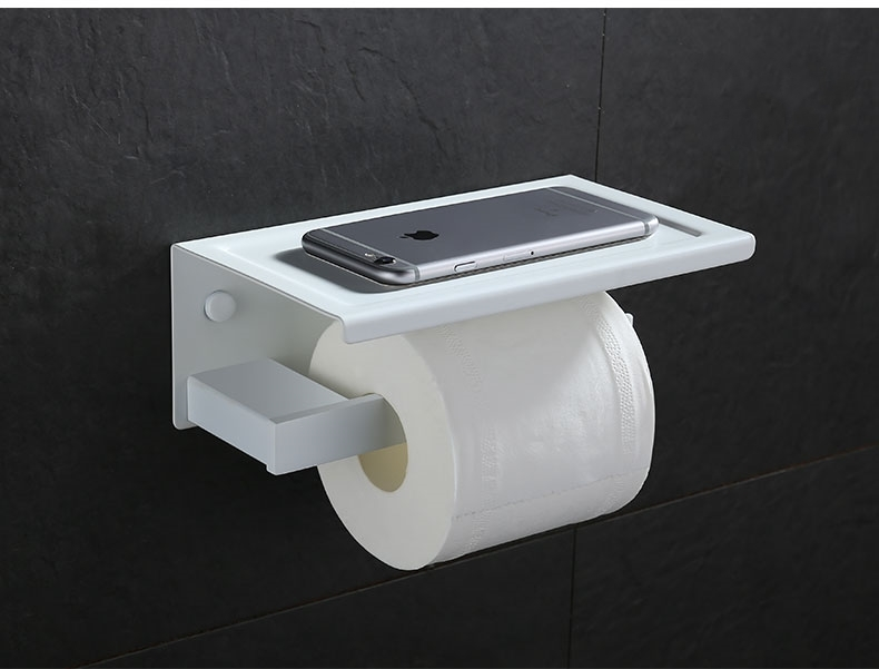50 pcs/lot High quality No rust 304 Stainless steel white Toilet bathroom Paper roll holder