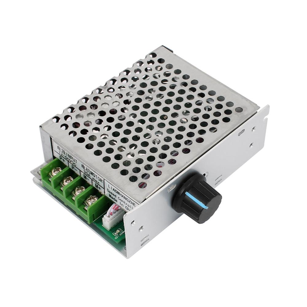 12-50V 30A 1500W Adjustable PWM DC Brush Motor Speed Controller Regulator Switch