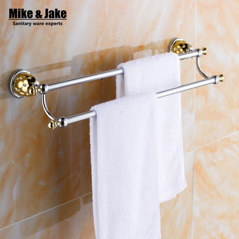 Double Towel Bar,Towel Holder,Solid Brass Made,chrome golden Finished,Bath Products,Bathroom Accessories bathroom towel MC67240
