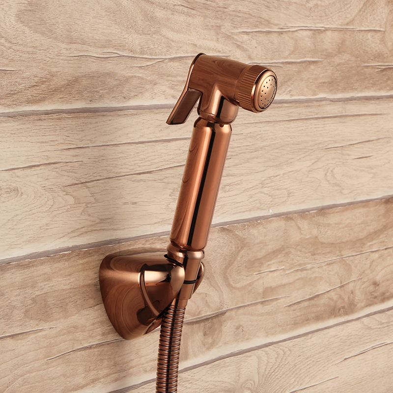 Rose Gold brass Sprayer hand held toilet bidet spray shattaf spray factory sale copper toilet shower head jet set--MD-N55