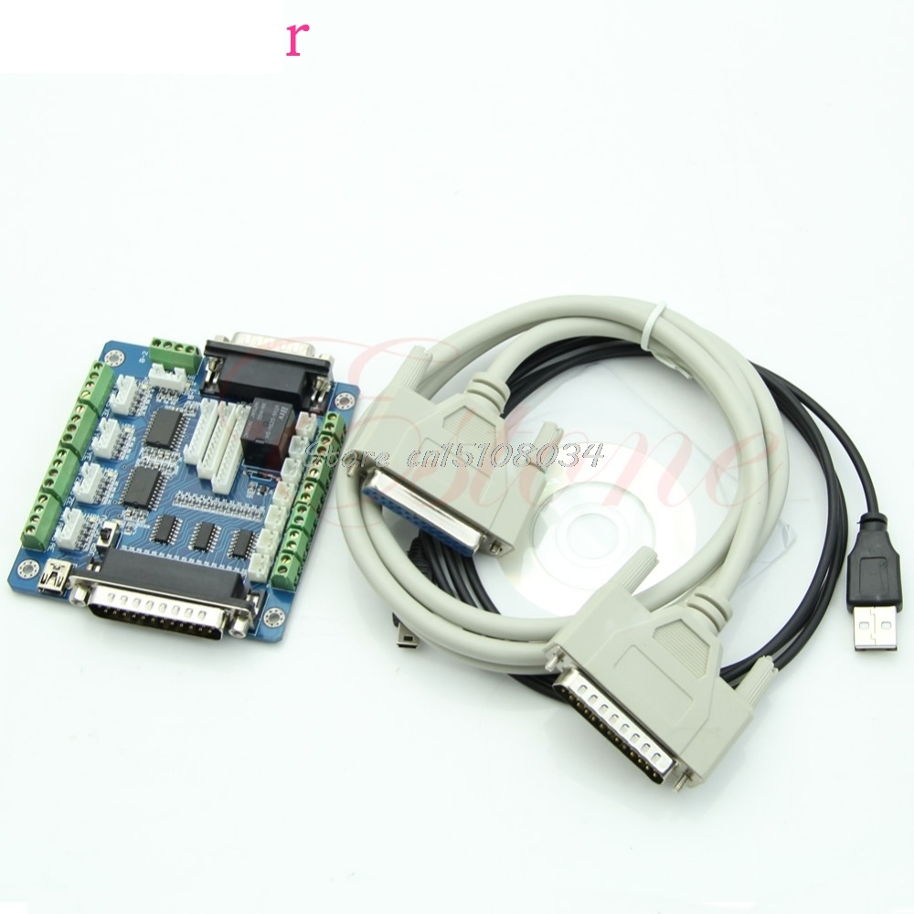 Board Interface Adapter For Stepper Motor + USB DB25 Cable 5 Axis CNC Breakout #S018Y# High Quality