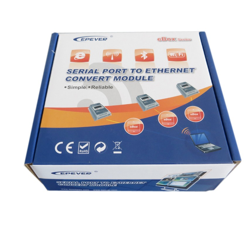 EPEVER Bluetooth Box Serial Adapter for EP Tracer Solar Controller and Inverter Communication via Mobile Phone APP eBox-BLE-01