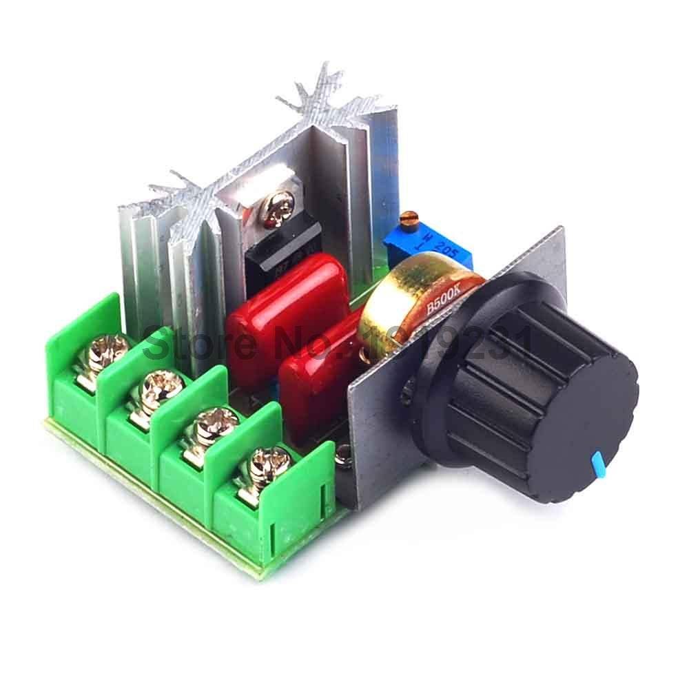 1PCS 2000W AC 220V SCR Electronic Voltage Regulator Module Speed Control Controller Worldwide Top Sale