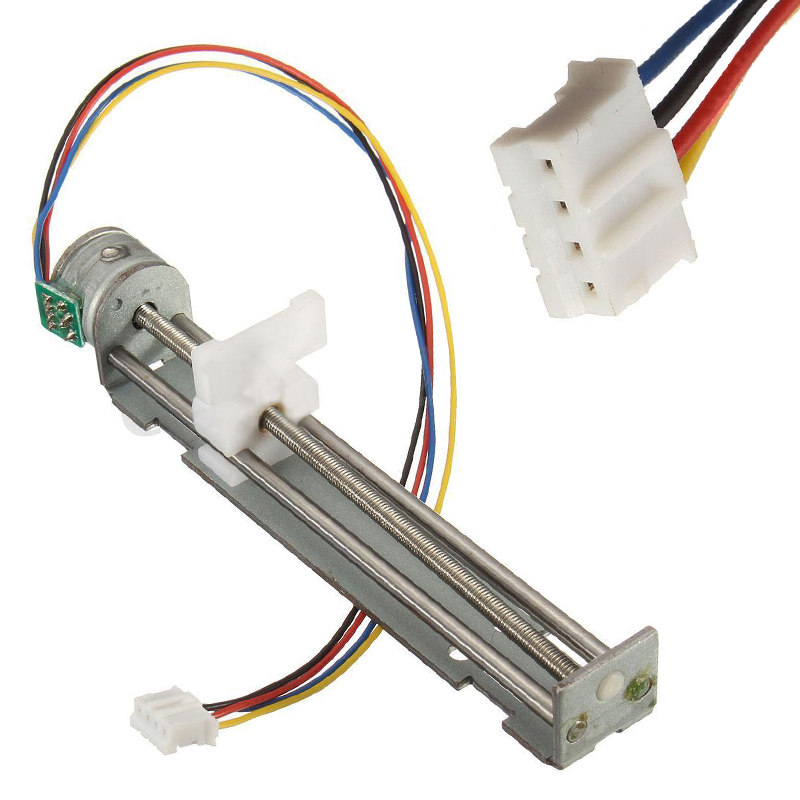 DC 4-9V 500mA Drive Stepper Motor Screw With Nut Slider 2 Phase 4 Wire Micro Sliding Table Fit For DIY Laser Engraving Machine